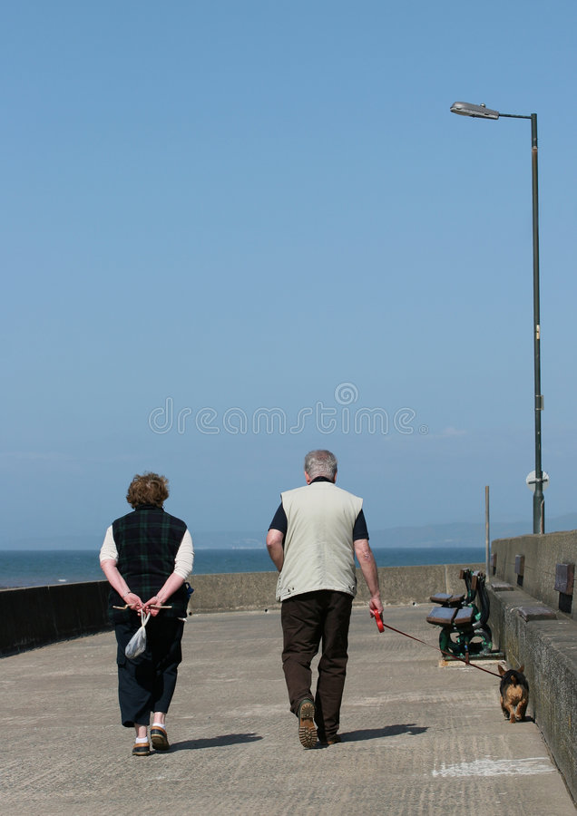 Leisurely Stroll royalty free stock image