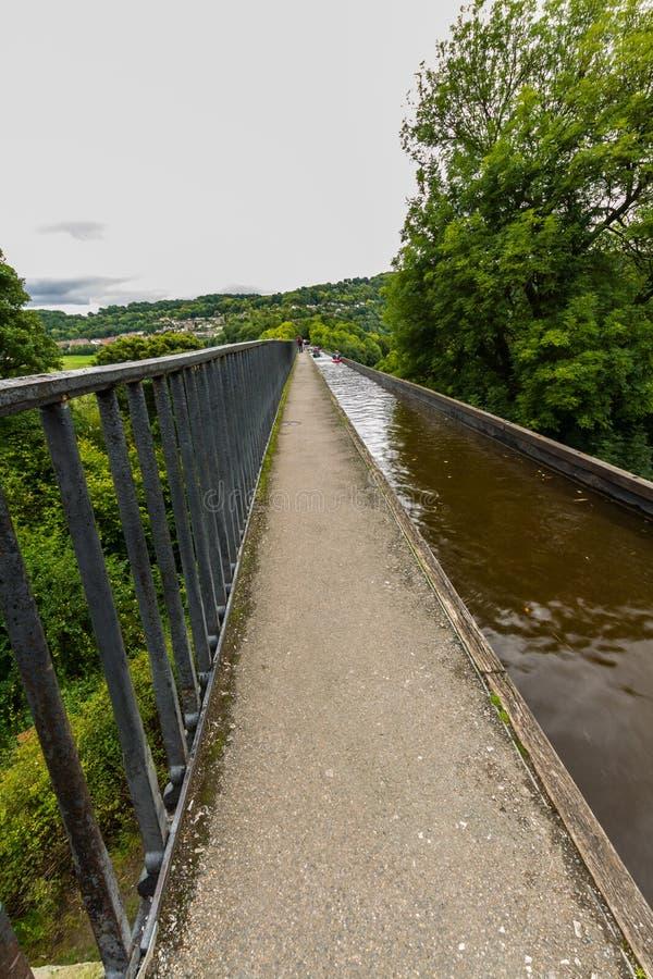 Leitartikel: Leinpfad des pontcysyllte Aquädukts lizenzfreie stockfotografie