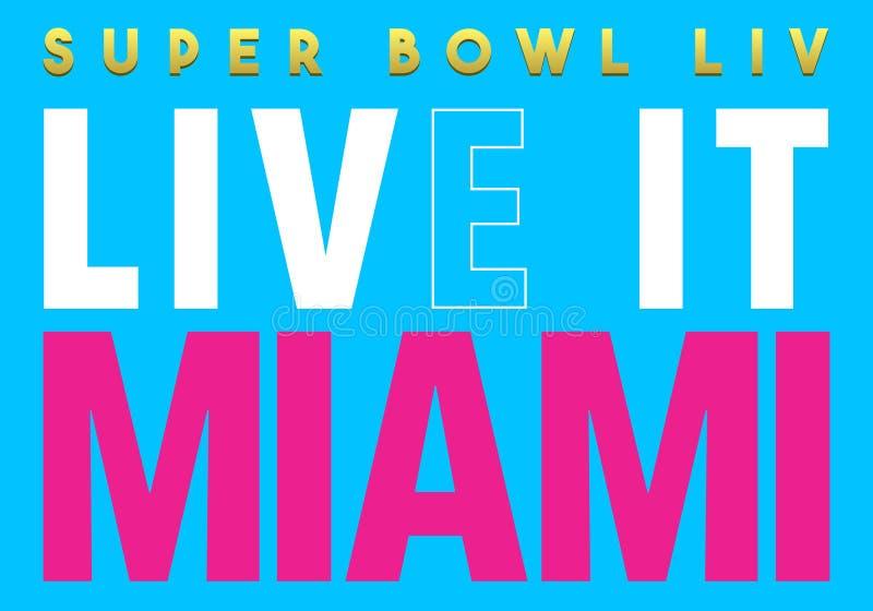 Leitartikel: Superschüssel 2020 leben ihn Miami lizenzfreies stockbild