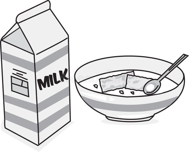 Leite & cereal imagem de stock