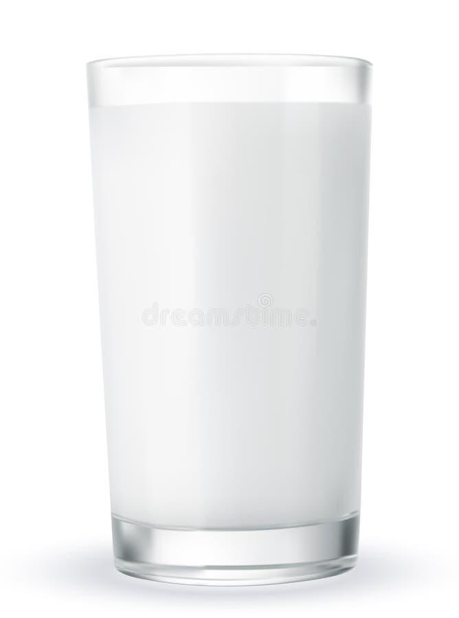 Leite de vidro ilustração stock