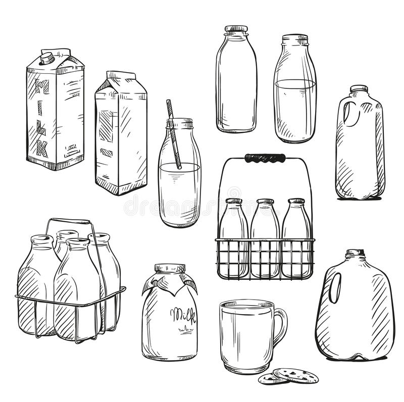 leite empacotar Ilustração do vetor ilustração stock