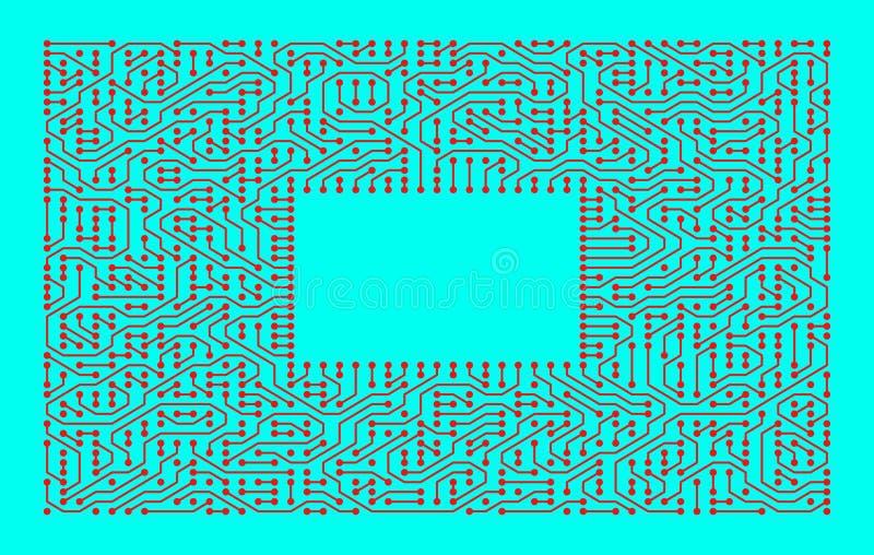 Leiterplatte als High-Techer minimalistic Hintergrund stock abbildung