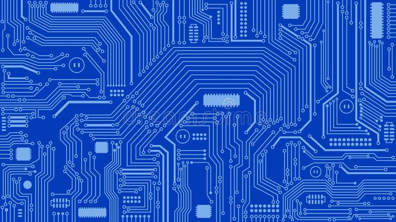 Leiterplatte-Hintergrund, Zusammenfassung, Computer, Technologie vektor abbildung