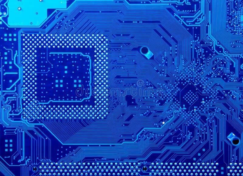 Leiterplatte im Blau stockfotografie