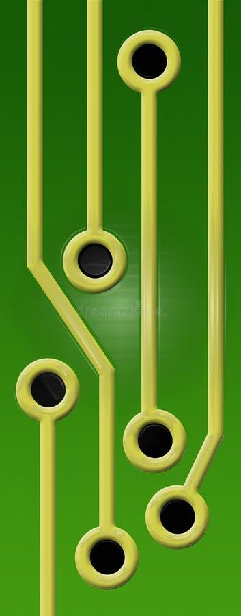 Leiterplatte-Spuren vektor abbildung