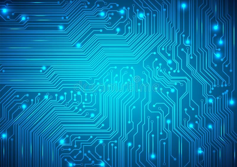 Leiterplatte-Vektorblauhintergrund lizenzfreie abbildung