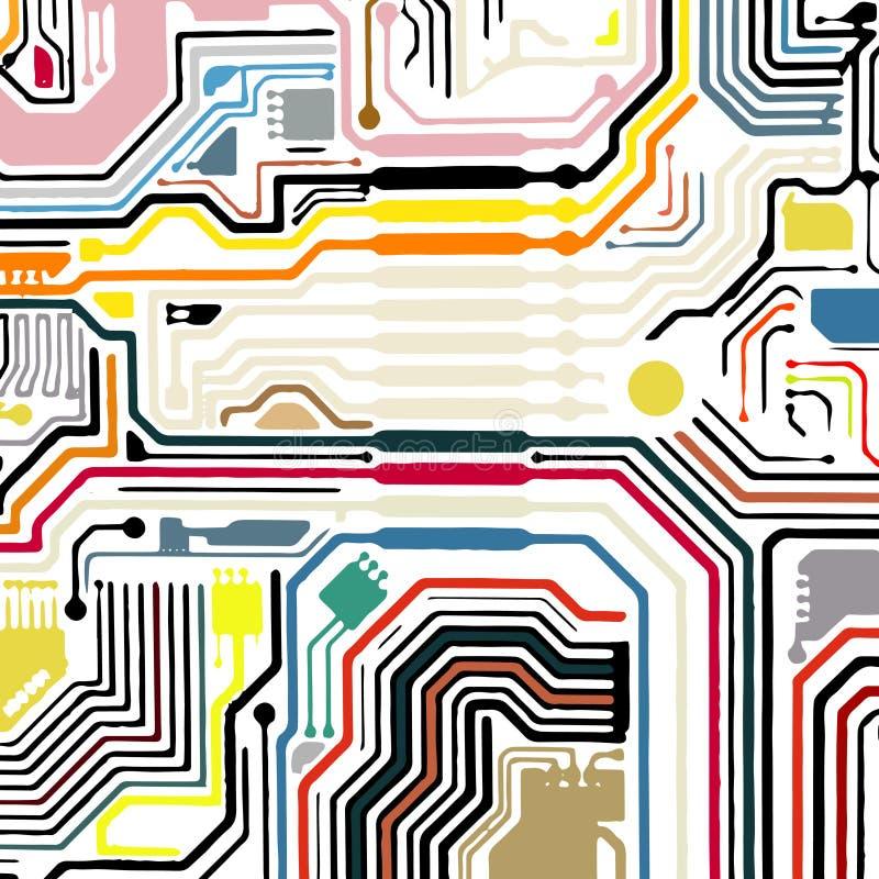 Leiterplatte-Vektorhintergrund stockbilder