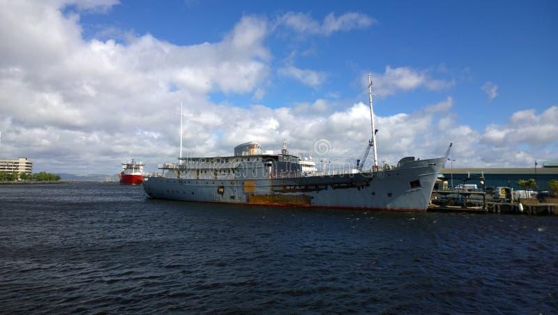 Leith Docks - Edinburg, Skottland royaltyfri foto