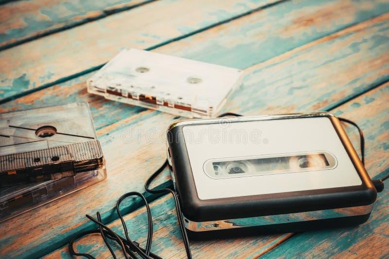 Leitor de cassetes e cassete ?udio do vintage fotos de stock