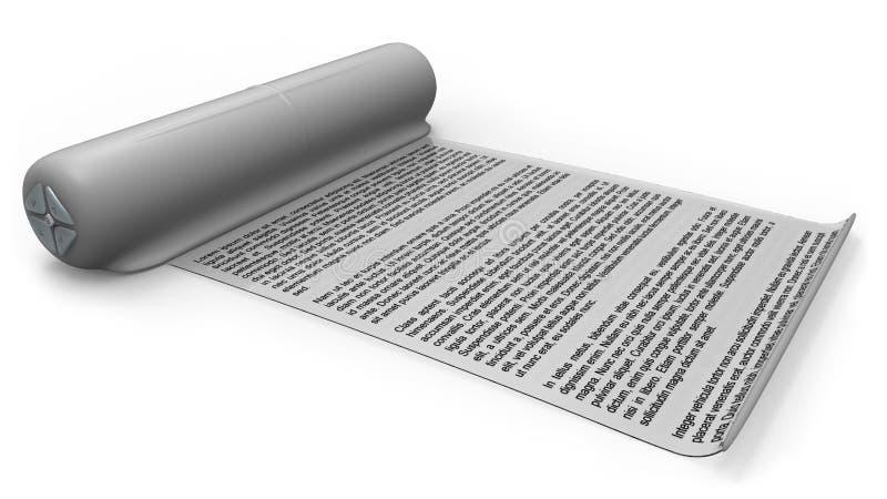 Leitor eletrônico com tela flexível ilustração do vetor