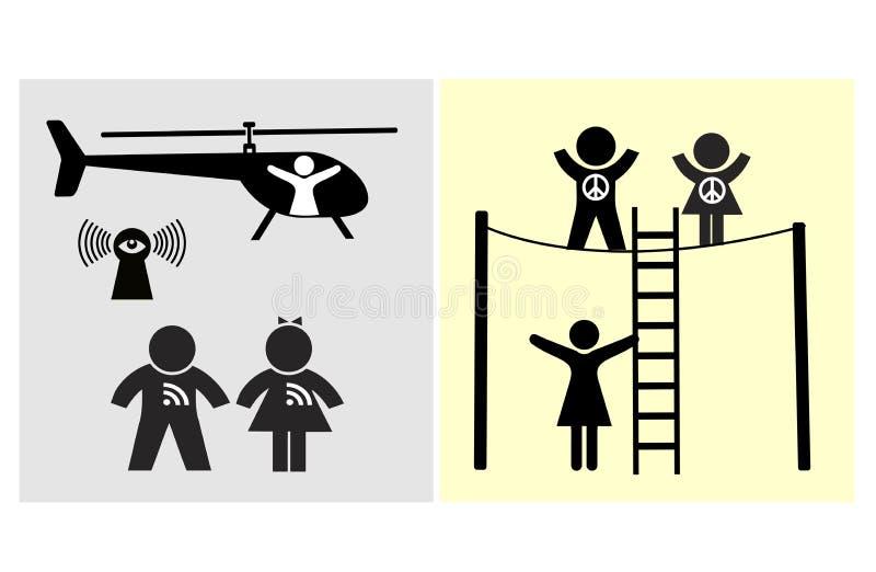 Leitungsfamilien-Risiken stock abbildung