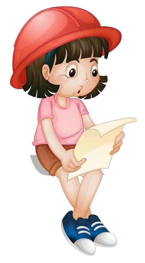 Leitura da menina ilustração royalty free