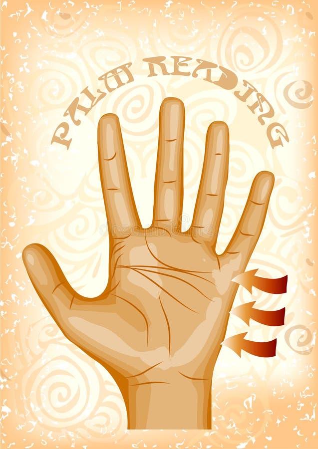 Leitura da palma ilustração royalty free