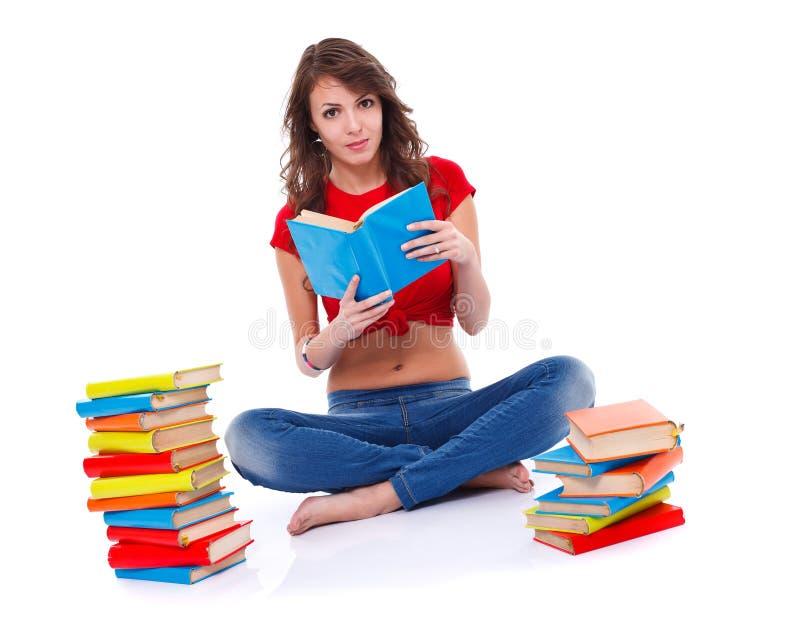 Leitura da rapariga imagens de stock