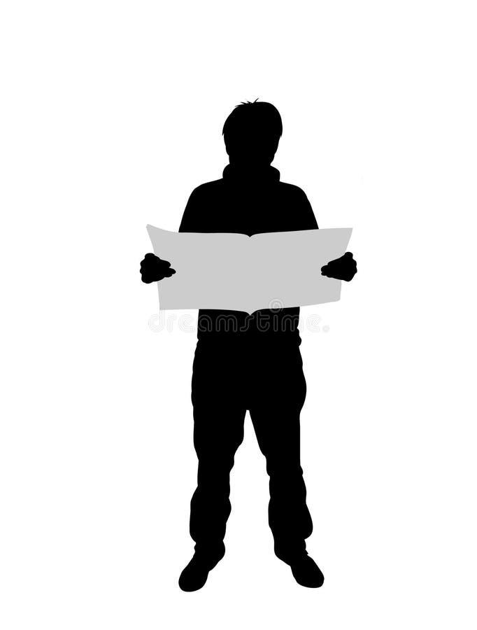 Leitura do homem ilustração do vetor