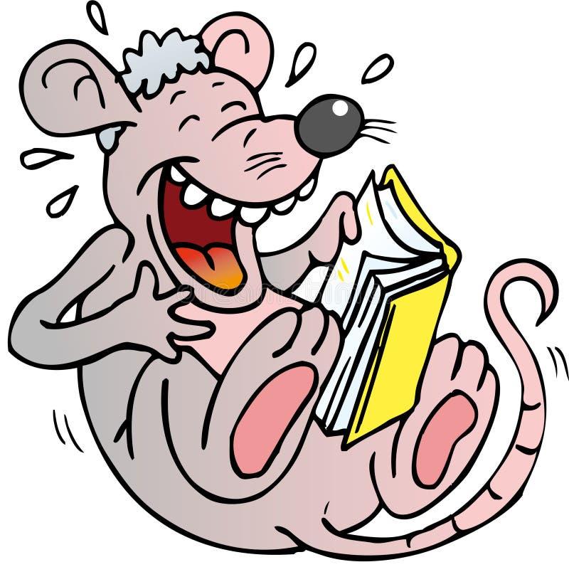 Leitura do rato ilustração stock