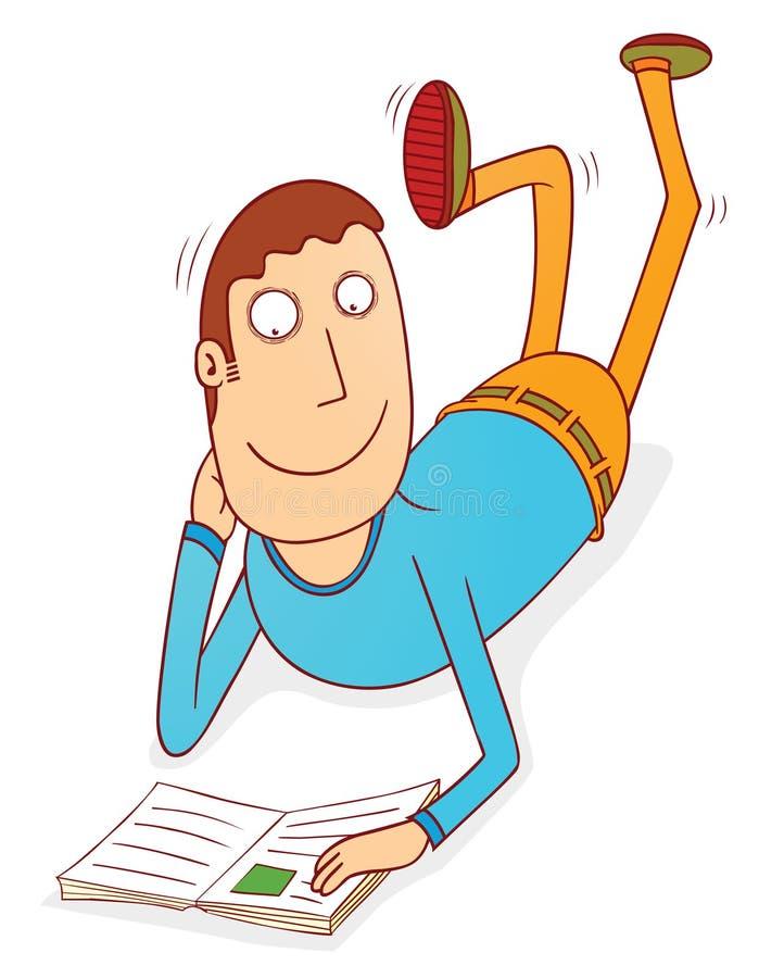Leitura no assoalho ilustração royalty free