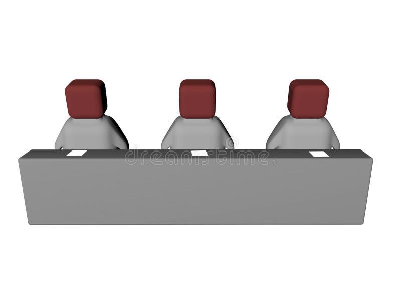Leitura salão ilustração do vetor