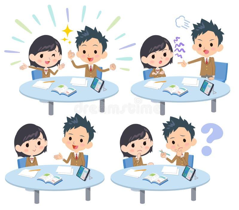 Leitura school_1 da reunião ilustração do vetor