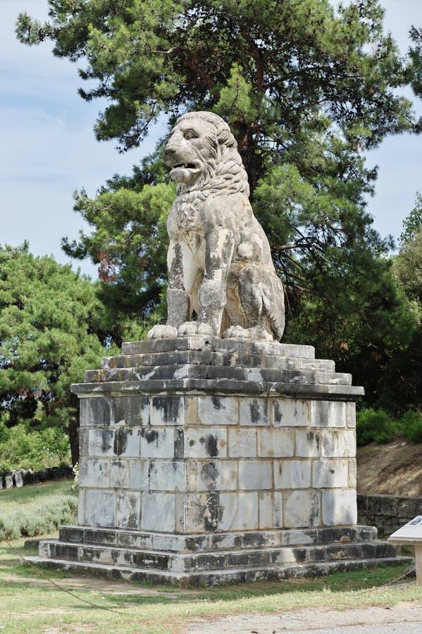 Lejon av Amphipolis arkivfoto