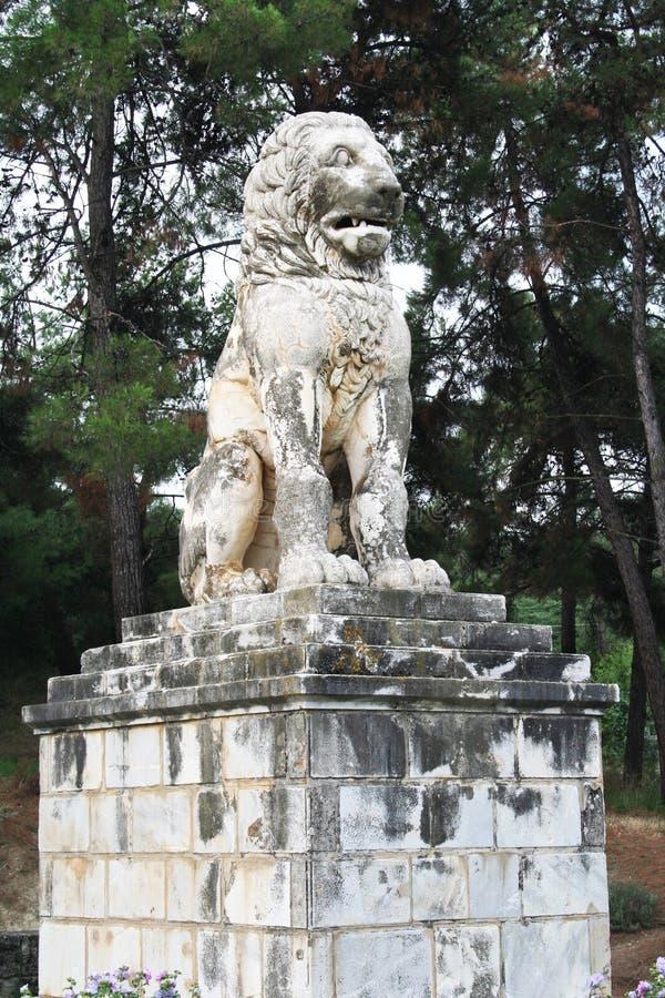 Lejon av Amphipolis royaltyfria bilder