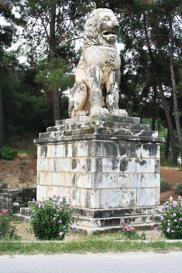 Lejon av Amphipolis fotografering för bildbyråer