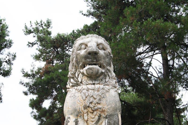 Lejon av Amphipolis royaltyfria foton