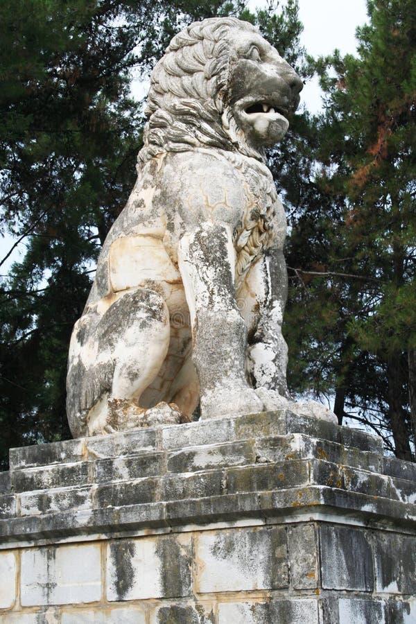 Lejon av Amphipolis royaltyfri foto