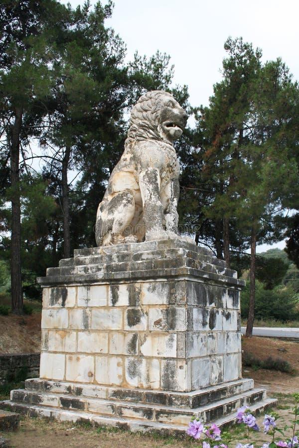 Lejon av Amphipolis arkivbild