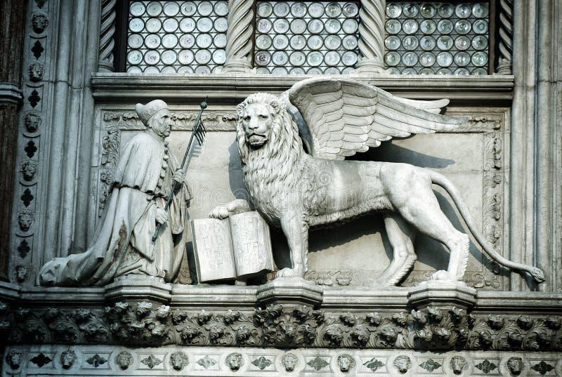 Lejon av St Mark arkivfoton