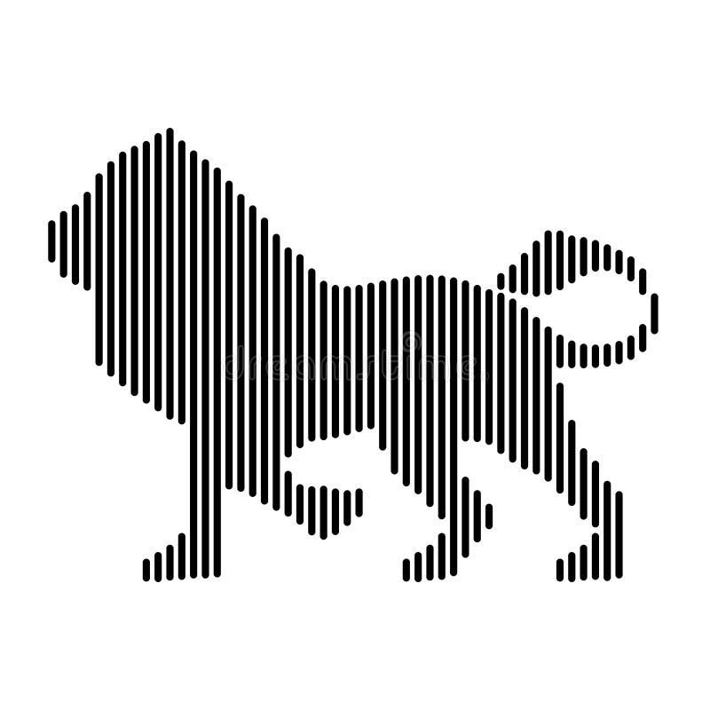 Lejon konungen av fän, symboler royaltyfri illustrationer