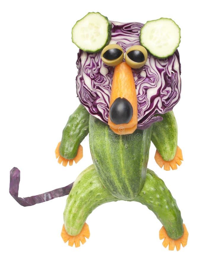 Lejon som göras av grönsaker royaltyfria bilder