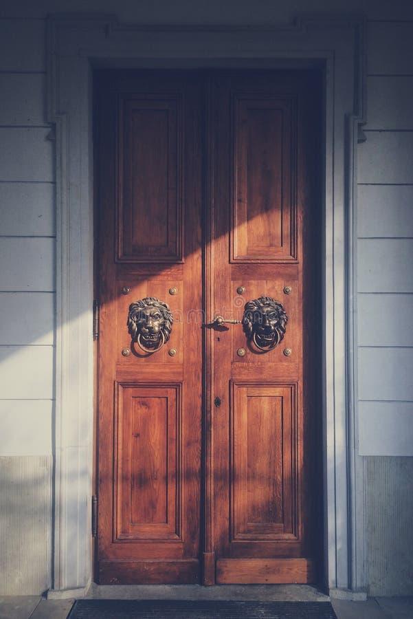 Lejondörrar royaltyfria foton
