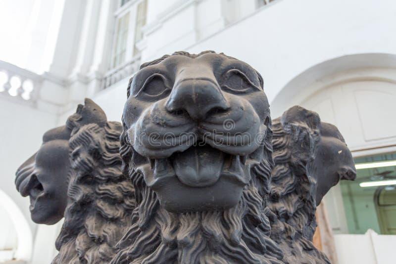 Lejonhuvudstaty fotografering för bildbyråer