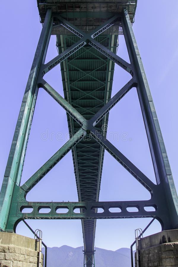 Lejonportbro från knappen Vancouver arkivbilder