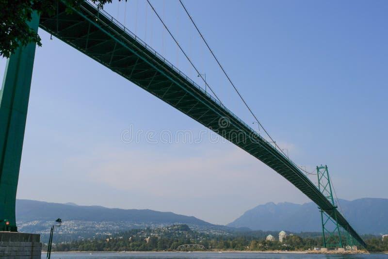 Lejonportbro Vancouver royaltyfria foton