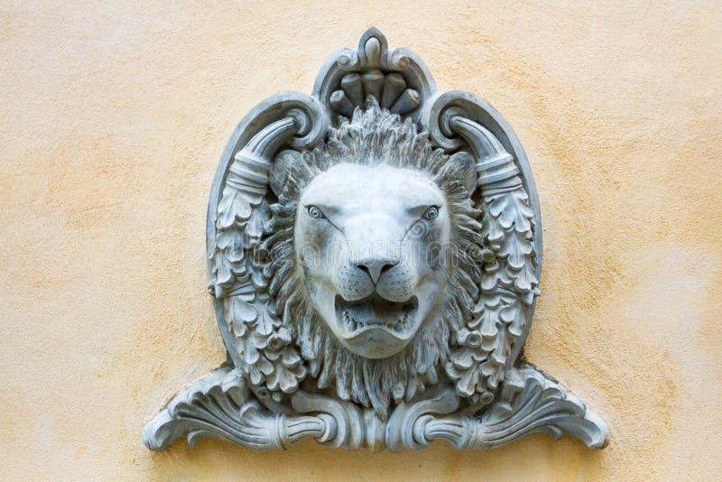 Lejonskulpturer royaltyfria foton