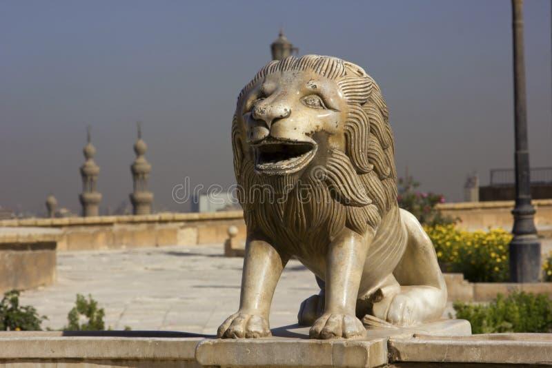 Lejonstaty royaltyfri foto