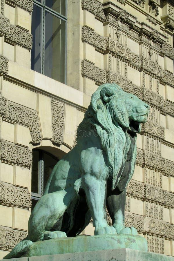 Lejonstaty i Europa royaltyfri fotografi