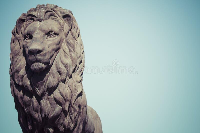 Lejonstaty i Skopje, Makedonien arkivbilder