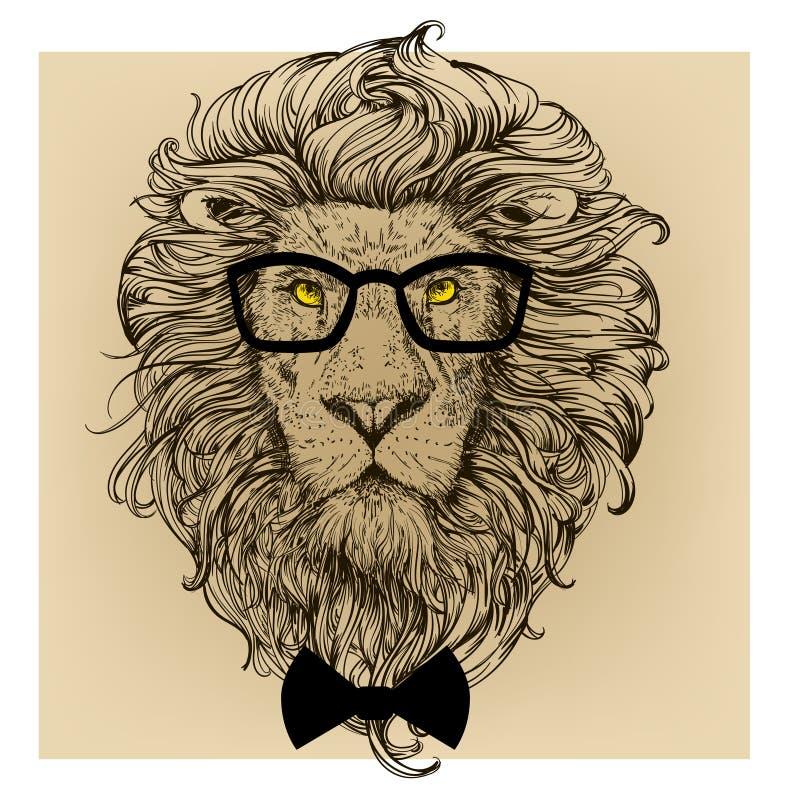 Lejonteckenstående stock illustrationer