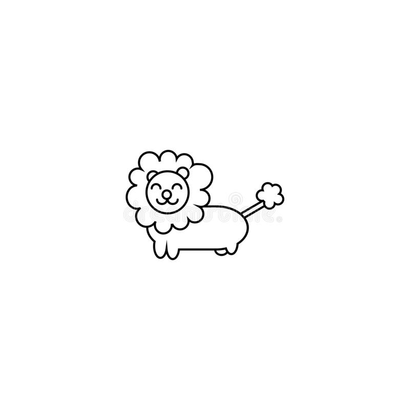 Lejonteckenvektor vektor illustrationer