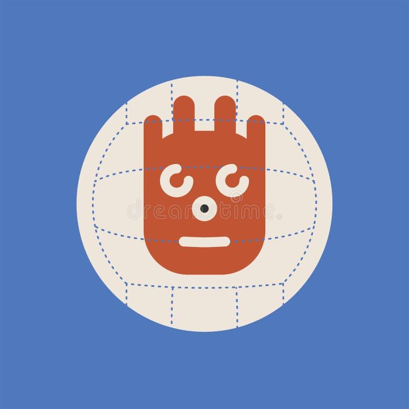 Lejos echado icono de la película Muestra de la bola de Wilson stock de ilustración