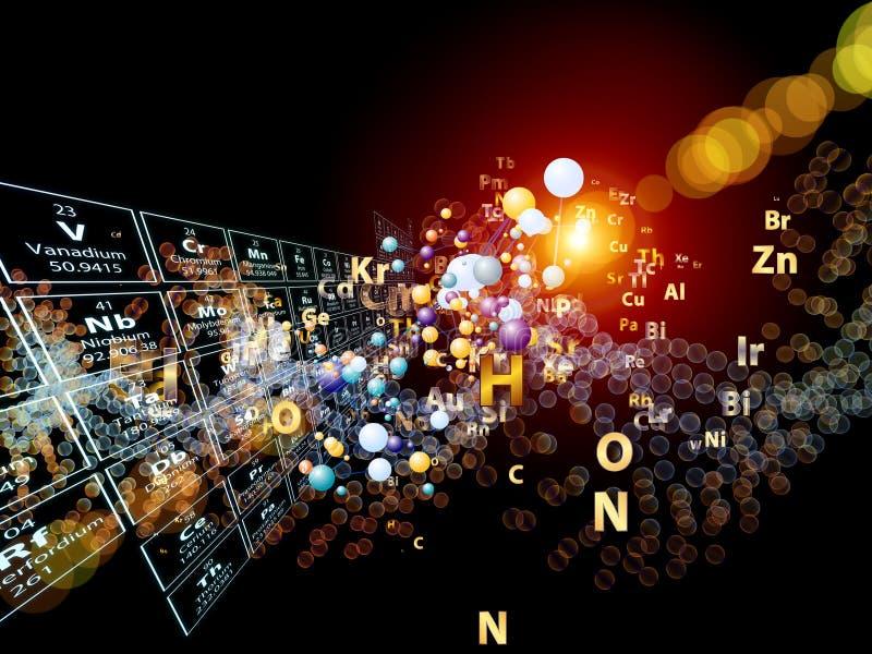 Lek av Chemical element stock illustrationer
