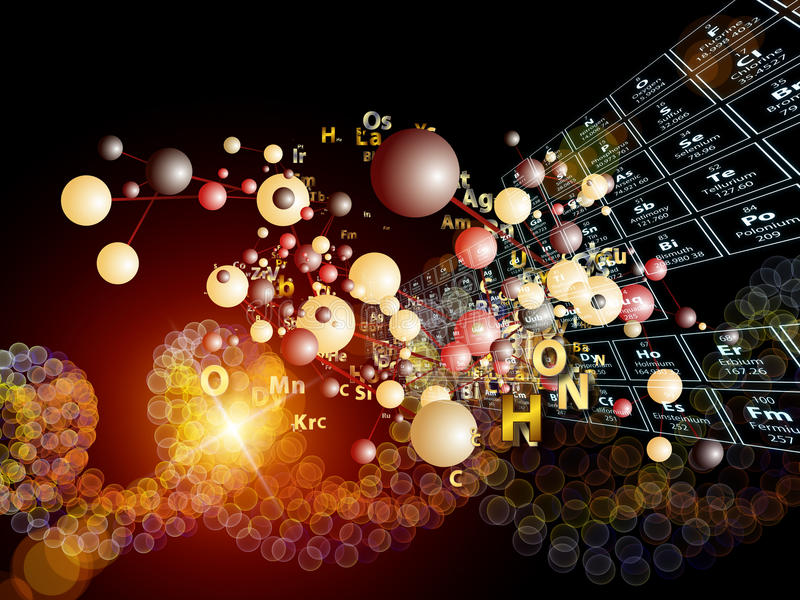 Lek av Chemical element vektor illustrationer