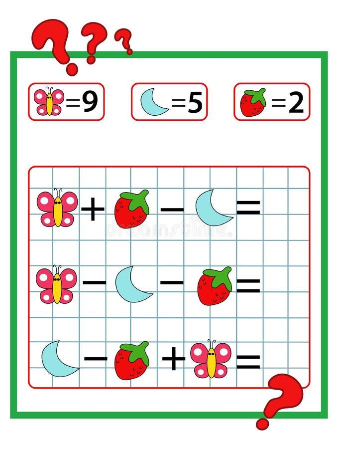 Lek av matematik arkivfoto