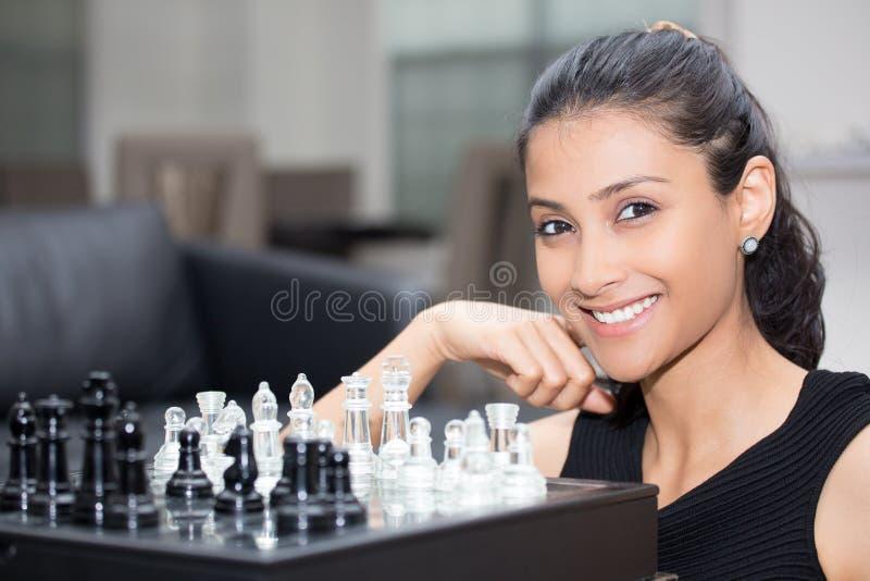 Lek av schacket royaltyfri bild