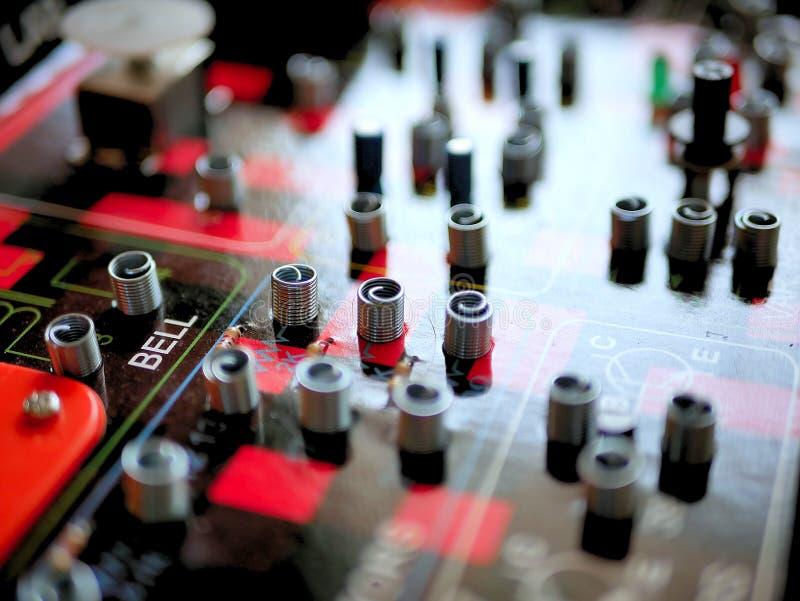 Lek för bräde för elektrisk strömkrets för vetenskap och teknik fotografering för bildbyråer