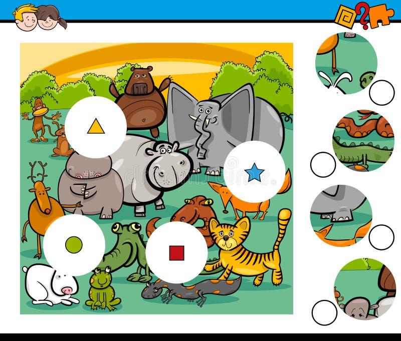 Lek för djurmatchstycken vektor illustrationer